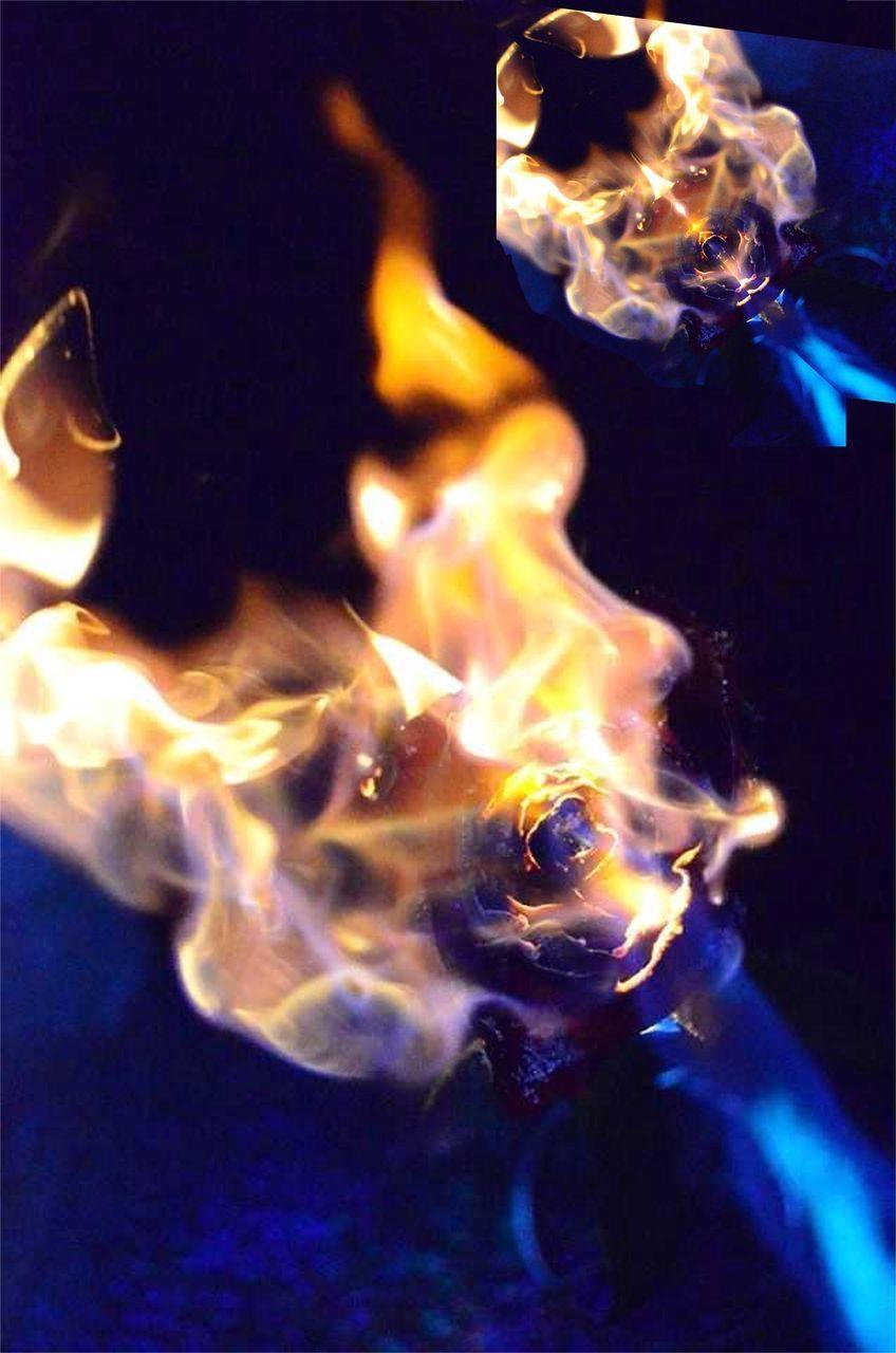 burning, flame, heat - temperature, close-up, smoke - physical structure, night, no people, indoors, illuminated, bonfire