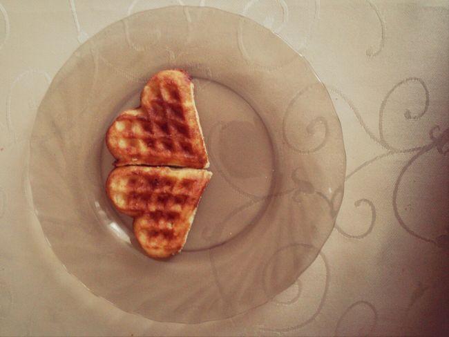 waffles of hearts Food Hearts Two Hearts Love ♥