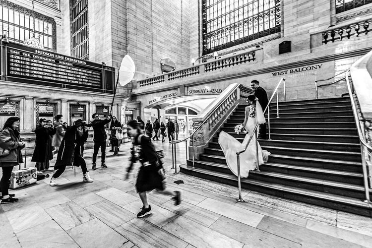 """""""Escaping from the Scene"""" Adult Architecture Blurred Motion Bridge - Man Made Structure Building Exterior Built Structure City City Life Crowd Day Full Length Group Of People Large Group Of People Leisure Activity Lifestyles Men Motion Outdoors Photo Real People Walking Women The Street Photographer - 2018 EyeEm Awards The Art Of Street Photography My Best Photo"""