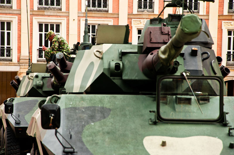 Tanks in the Plaza de Bolivar to celebrate Colombian independence day in Bogot, Colombia. Army Bogota,colombia. Bogotá Celebration City Colombia Colombian  Day Of Independence Indenpendenceday Plaza Bolivar Soldier Tank