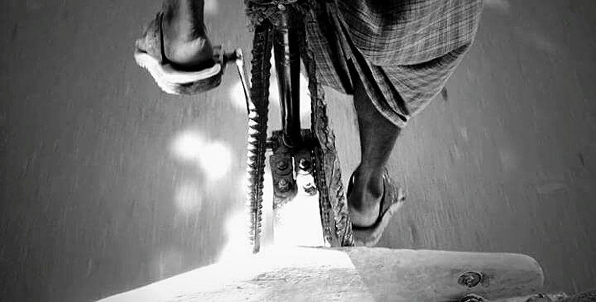 Rickshaw Labor Life Street Life Black & White Street Photography Mobile Photography