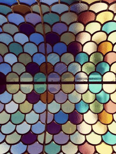 Multi Colored Pattern No People Full Frame Backgrounds Abstract Close-up Indoors  Architecture Day Glass Tinted Glass Glass Roof Glass Scales Textures And Surfaces Mosaic Glass Mosaic Decor Bright Bright Colors