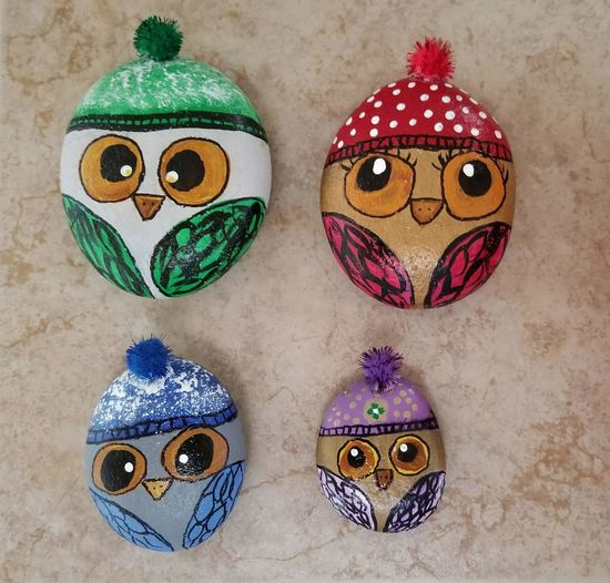 Anthropomorphic Face Disguise Doll Human Body Part Human Face Human Eye Tortoise People Painted Rocks Owl Christmas