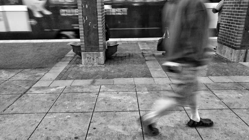 The Decisive Moment Monochrome Blackandwhite Editorial  Dallas Portraits Photography Motion Walking Low Section Human Leg One Person Real People Blurred Motion Human Body Part People Outdoors Mobility In Mega Cities The Street Photographer - 2018 EyeEm Awards