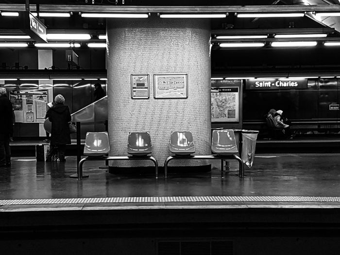 Metro Station Metro Metropolitan Marseille Bnw_collection Bnw Indoors  Bar - Drink Establishment Architecture City No People Day