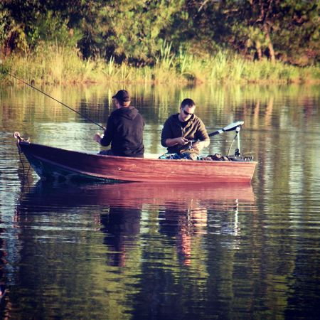 Nautical Vessel Lake Water Oar Reflection Rowboat Nature Sitting Togetherness Transportation Real People Outdoors Canoe Day Men Leisure Activity Tranquility Kayak Rowing Adult