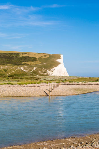 Seven Sisters Cliffs and the Cuckmere River Chalk Chalk Cliffs Cliffs Coastal Coastal Landscape Cuckmere Haven Cuckmere River Landscape Seven Sisters South Downs Sussex Vertical Water