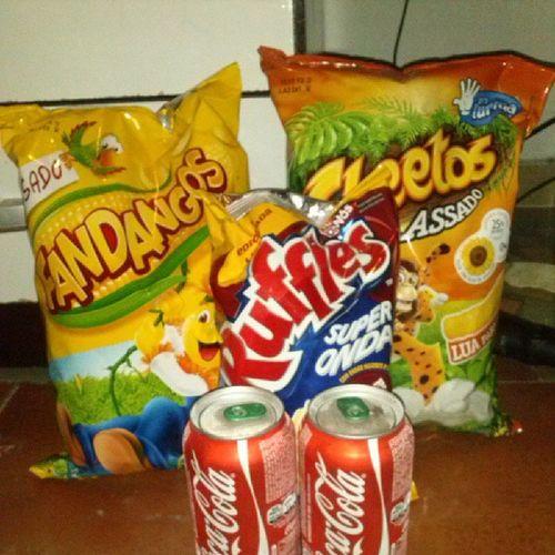 Comida Fandangos Cocacola Cheetos gordice