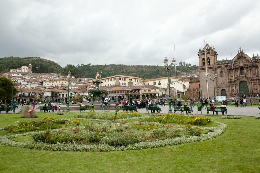 Plaza de Armas Cusco Peru Architecture Building Exterior Built Structure Cuzco Plaza De Armas