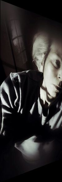 Eurydice The Innovator Portraitmood Portraitmood✪ Dark Portrait Dark_portraits Gloomgrabber Shadows & Lights Shadow And Light Contrast Bnwbutnot Strange Weird Archetype Glassdarkly