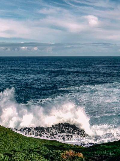 Sea Horizon Over Water Beauty In Nature Horizon Water Scenics - Nature Sky Cloud - Sky Land Wave Tranquil Scene Motion Nature Idyllic Surfing Outdoors Beach