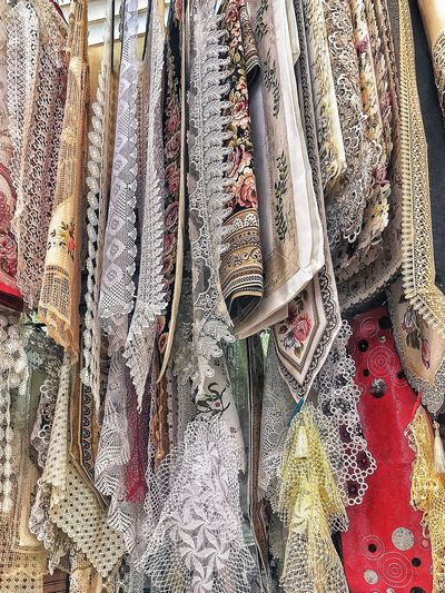 Hand made ✋🏼 Hand Made Pattern Full Frame Textile Backgrounds Indoors  No People Close-up Day Design Textured  High Angle View Art And Craft Creativity Curtain White Color