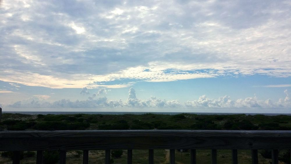Water Nature Cloud - Sky Outdoors Landscape No People Sky Day Beauty In Nature Beauty Ocean OBX North Carolina Summer Surreal Cloud City Skyline