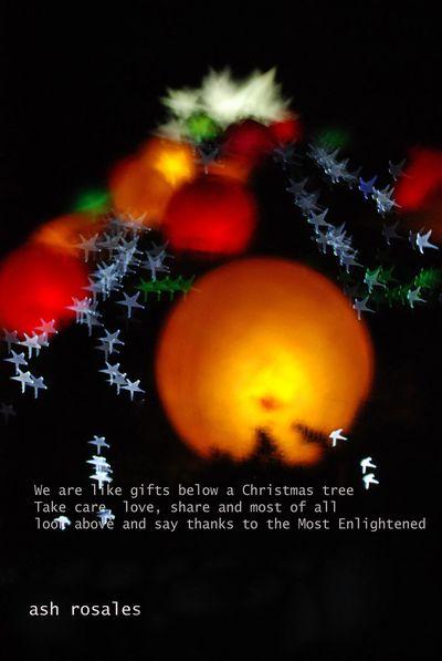 Merry Christmas! Christmas Bokeh Qoutes Blessings