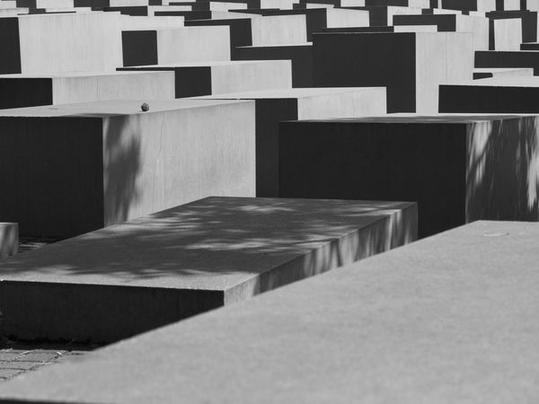 Berlin Peter Eisenman Blackandwhite Day Holocaust Memorial Holocaust Memorial Berlin In A Row Indoors  Monument No People