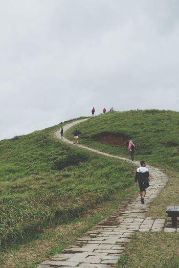 Mountain Climbing Mountain People Lanyu Taitung,taiwan