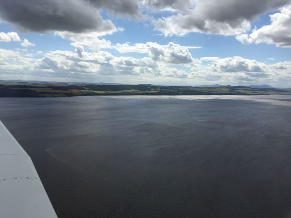 From the sky Flying Flying High Plane Aeroplane Dundee Fife