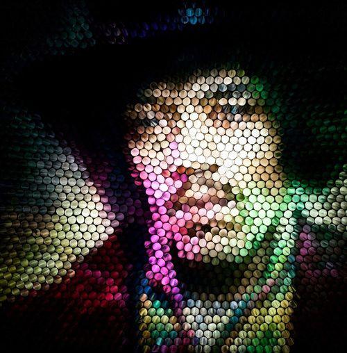Multi Colored Close-up Experimental Strawcamera Circles Circles Of Confusion Abstract Textured  Pattern Illuminated Art Pixelated Jimi Hendrix Classic Rock The Week On EyeEm Visual Creativity