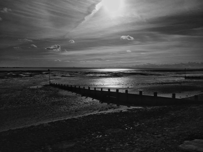 Southend sea front looking fine this afternoon. Sea View Sea And Sky Seaside Southend On Sea Seascape Southend Blackandwhite Black And White Black And White Photography This Is Britain British Seaside