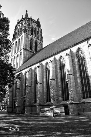 Architecture History No People Münster, Deutschland Germany Architecture Church Nordrhein-Westfalen Münster Germany Blackandwhite Religion Monochrome Photography