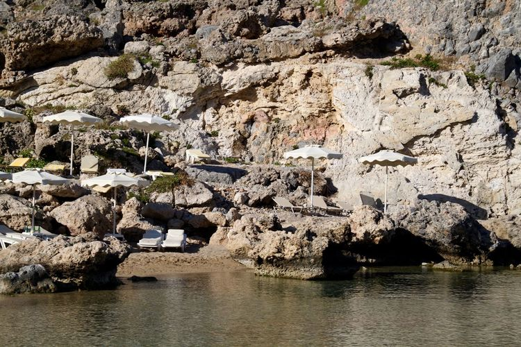 Greece Beach Beach Photography Beachphotography Beauty In Nature Cliff Lindos Nature No People Outdoors Physical Geography Rhodes Rock - Object Rock Face Rock Formation Ródos Saint Paul's Bay Scenics Water Waterfront Rock Nature Non-urban Scene Sea
