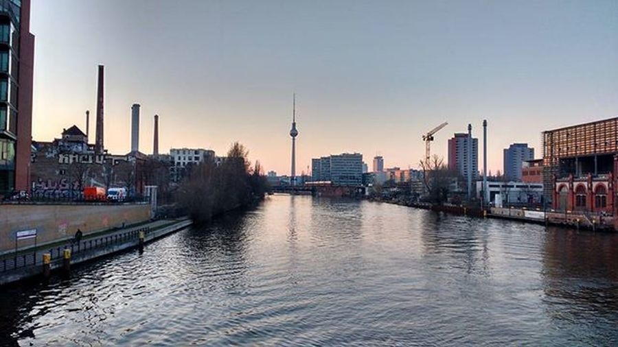 After a long time! Berlin Tvtower Fehrnsehturm SpreeRiver Evening Ostbahnhof SoFar Tall Justclick Water Panaromicview Tiredoftagging Iamback