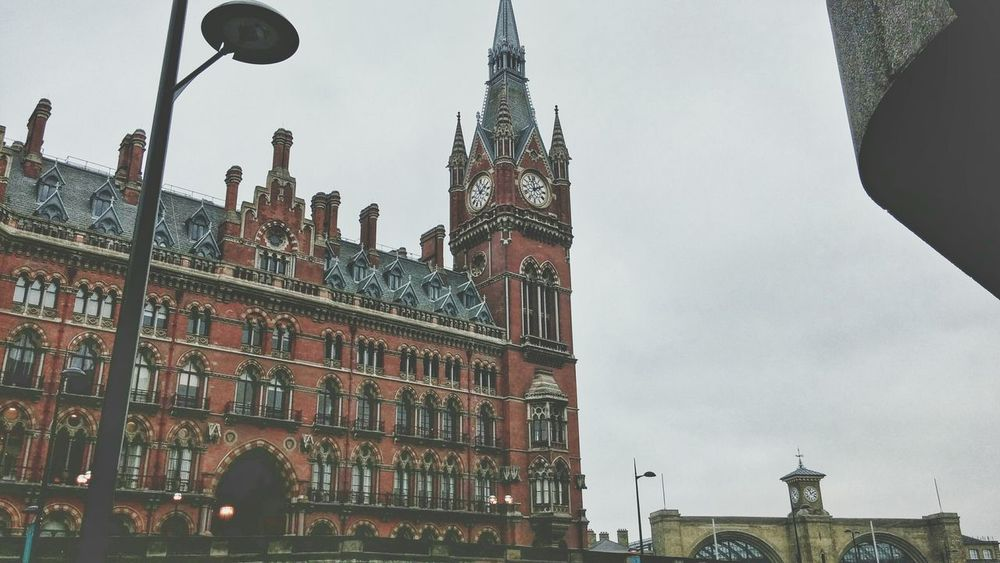 Good Morning Mr. Pancras King's Cross, St Pancras International London Clock Architecture