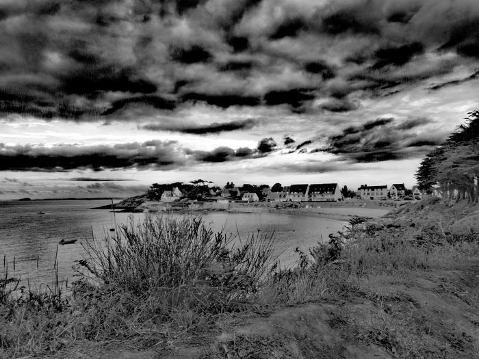 Black & White Sky Oceanview Outdoors Breizh Morbihan Tranquility Huaweip10plus Ocean Beauty In Nature Nature Collection Bretagne