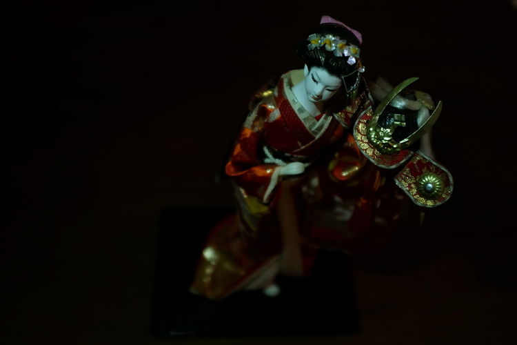 Black Background Copy Space Figurine  Geisha Doll Lieblingsteil Minimalism No People Still Life Still Life Photography