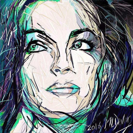 RomySchneider Romy Schneider Silly Colors Digital Art Sillycolors Illustrationart Digital Drawing