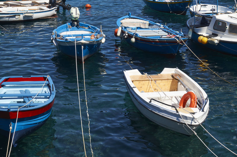 Blue Boat Calabria Day Italy Italy❤️ Mediterranean  Mode Of Transport Nature Nautical Vessel Outdoors Scilla