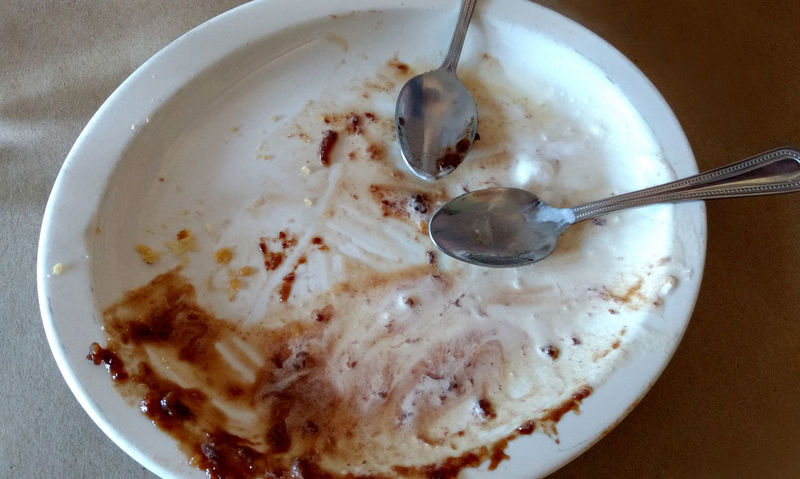 An empty plate with two spoons, after eating a yummy chocolate dessert Chocolate Dessert All Gone  Bowl Clean Your Plate... Women Love That  Close-up Crockery Dairy Product Directly Above Dirty Plate Eating Utensil Food Food And Drink Freshness High Angle View Indoors  Kitchen Utensil Leftovers Meal No People Refreshment Spoon Still Life Table Temptation