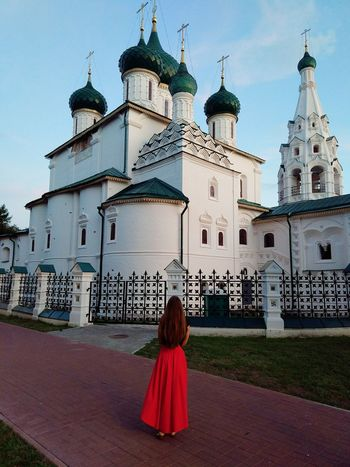 Yaroslavl. Church of Elijah the Prophet City Politics And Government Spirituality Place Of Worship Rear View Religion Red Sky Architecture
