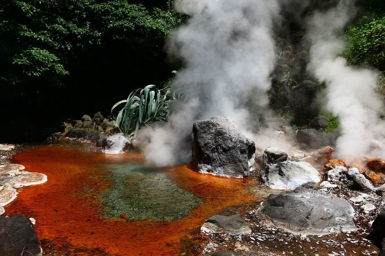 View Of Hot Spring
