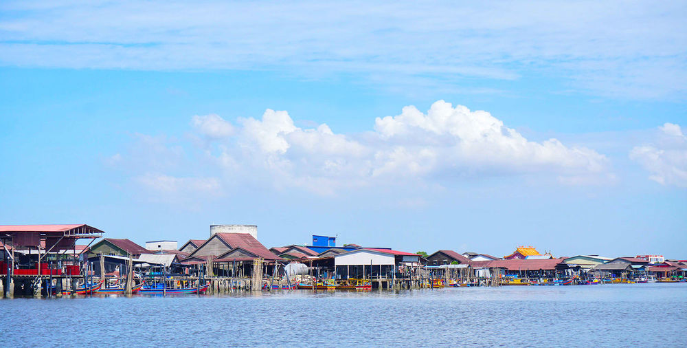 Home Is Where The Art Is Clouds And Sky Village Life Village House Fishing House Evening Sea And Sky Sea at Kuala Gula Perak, Malaysia