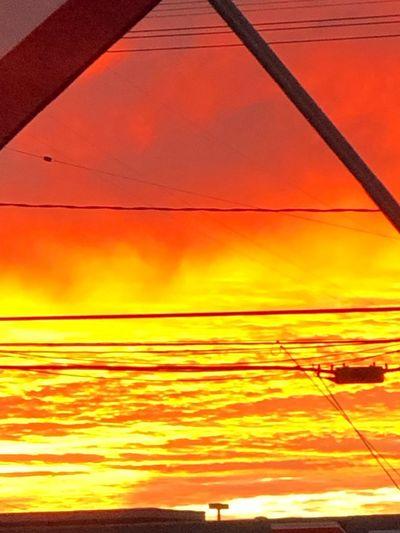 Sunset Orange Color Sky Beauty In Nature Scenics - Nature Cloud - Sky Sea
