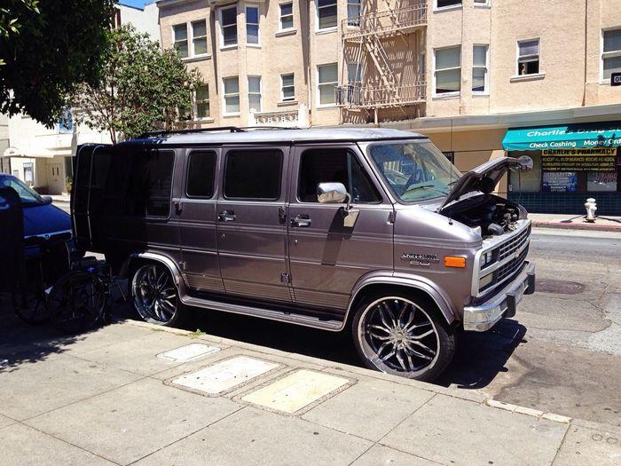 Taking Photos Van Classic Van Walking Around