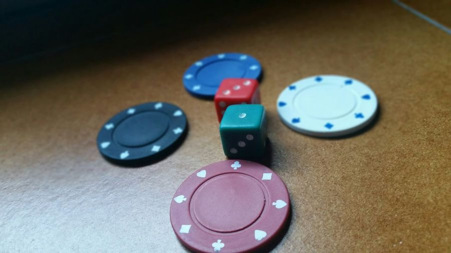 Poker Chips With Dices