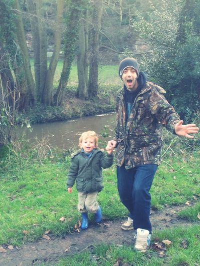 Me And My Daddy  Say Cheese Walk In The Countryside A Walk In The Woods