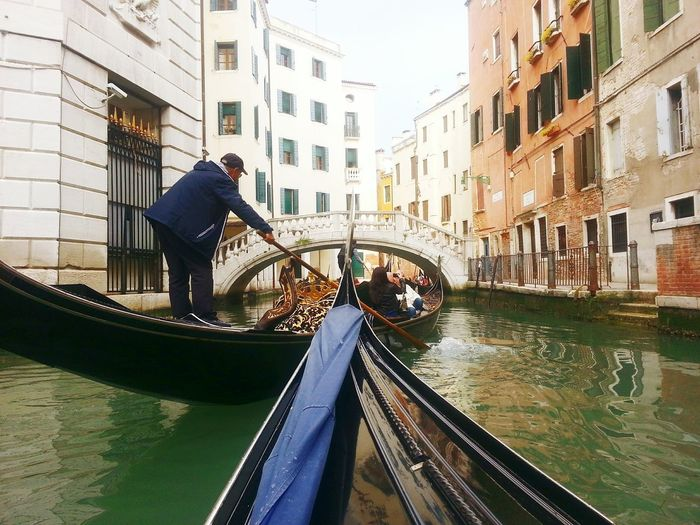 Canal Water Transportation Venezia Venice Canals Venice Gondola Mode Of Transport Bridge