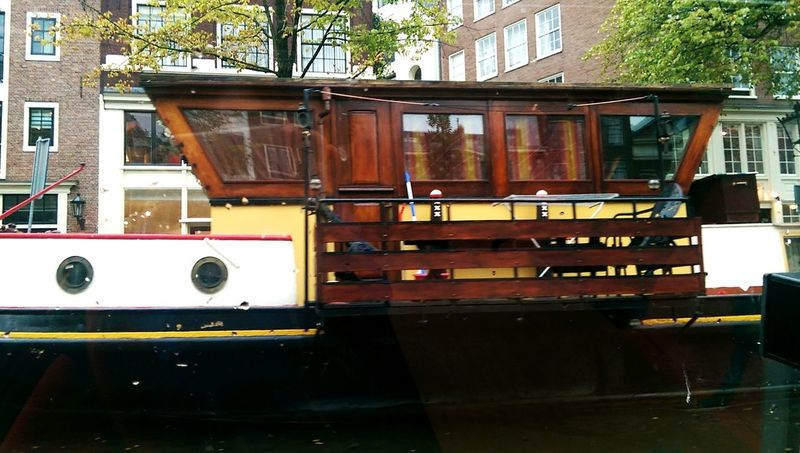 Let's Go. Together. Amsterdam Canal Houseboats In Amsterdam Architecture Window No People Building Exterior Built Structure Day Water Outdoors Fire Engine Nautical Vessel City