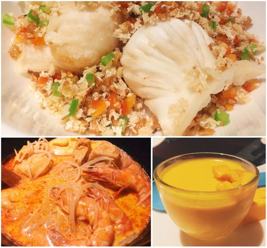 在Double Tree度過的一個中午.🍜 Lifestyles Mango Pudding Delicious Chatting With Friends Lunch Food And Drink Food Freshness Healthy Eating Ready-to-eat Table Meal Seafood Close-up