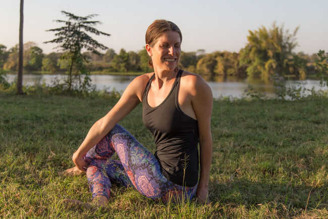 Adult Ashram Day Exercising Grass Green Healthy Lifestyle Human Body Part India Lifestyles Nature One Person Outdoors People Sport Sports Clothing Strength Tree Twisted Wellbeing Yoga Yoga Pose Yoga ॐ Yogagirl Young Adult