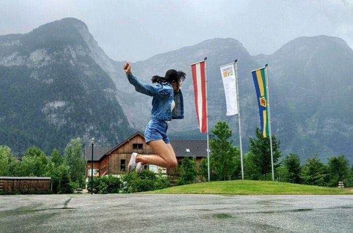 The Great Outdoors - 2017 EyeEm Awards Obertraun Austria Mountain Jumping Nature