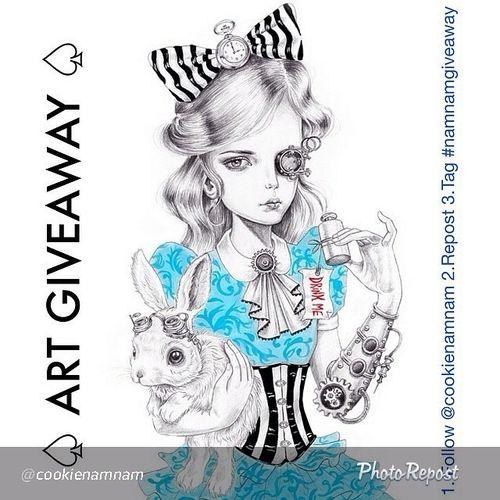 I love Alice and @cookienamnam art! Namnamgiveaway