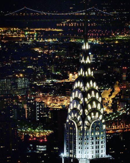 États Unis Photographie  Photography United States Chrysler Building New York Night Architecture Illuminated Building Exterior Built Structure Cityscape City Travel Destinations Urban Skyline