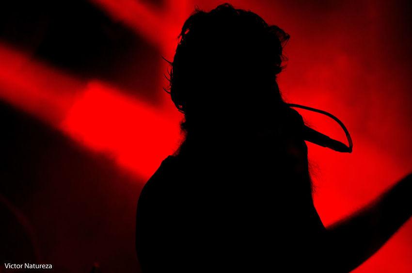 Red Silhouette Rock Music Performance Music Planetarock Show Cobertura Sombra Luz Victornatureza Vitaonatureza Matanza Rock Musician Arts Culture And Entertainment