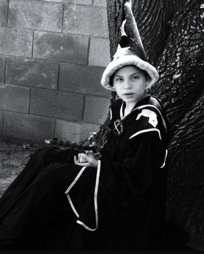 Wizard Wizardwannabe Dressing Up Photoshoot Fantasy Photography Kidsphotography Black And White Black And White Collection  Tree Yard Taking Pictures Imagination And Creative Pretendplay Childsplay Childs Play