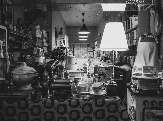 Abundance Arrangement Business Ceramics Choice Container Counter Crockery Domestic Room Household Equipment Illuminated Indoors  Kitchen Kitchen Utensil Large Group Of Objects No People Retail  Shelf Still Life Table Variation