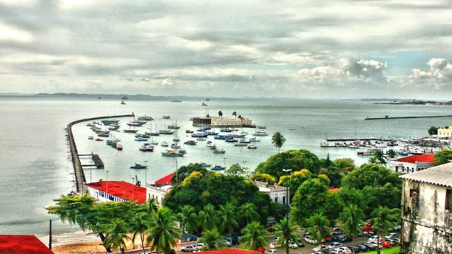 BaiaDeTodosOsSantos Fortedesãomarcelo Salvador Bahia Salvador Salvador Bahia -Brasil Salvador, Brazil Calm Nautical Vessel Horizon Over Water Water Sea Beauty In Nature Beautiful Day Beautiful Nature Sea Water Horizon Over Water Tree Nautical Vessel Sky High Angle View Transportation Cloud - Sky Mode Of Transport Scenics
